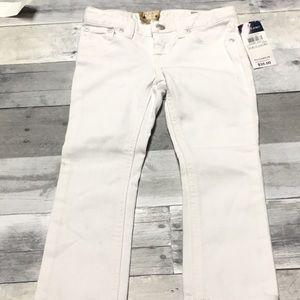 Girls Ralph Lauren White Skinny Jeans Size 3/3T